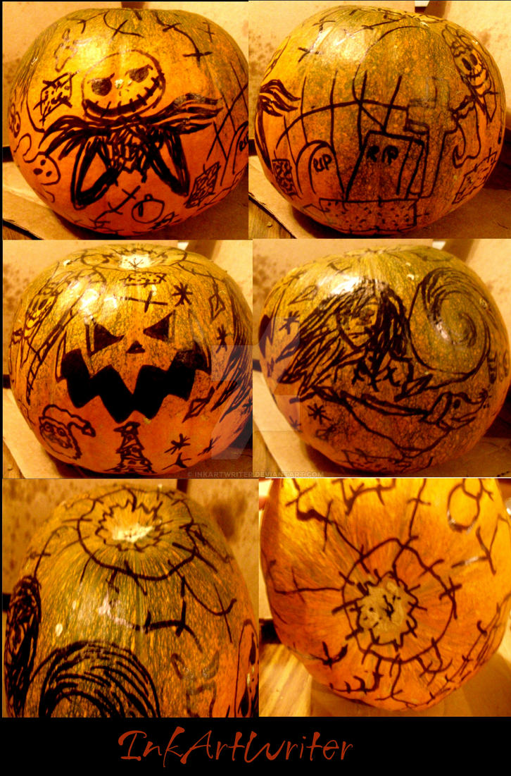 My Nightmare Before Christmas Pumpkin by InkArtWriter on DeviantArt