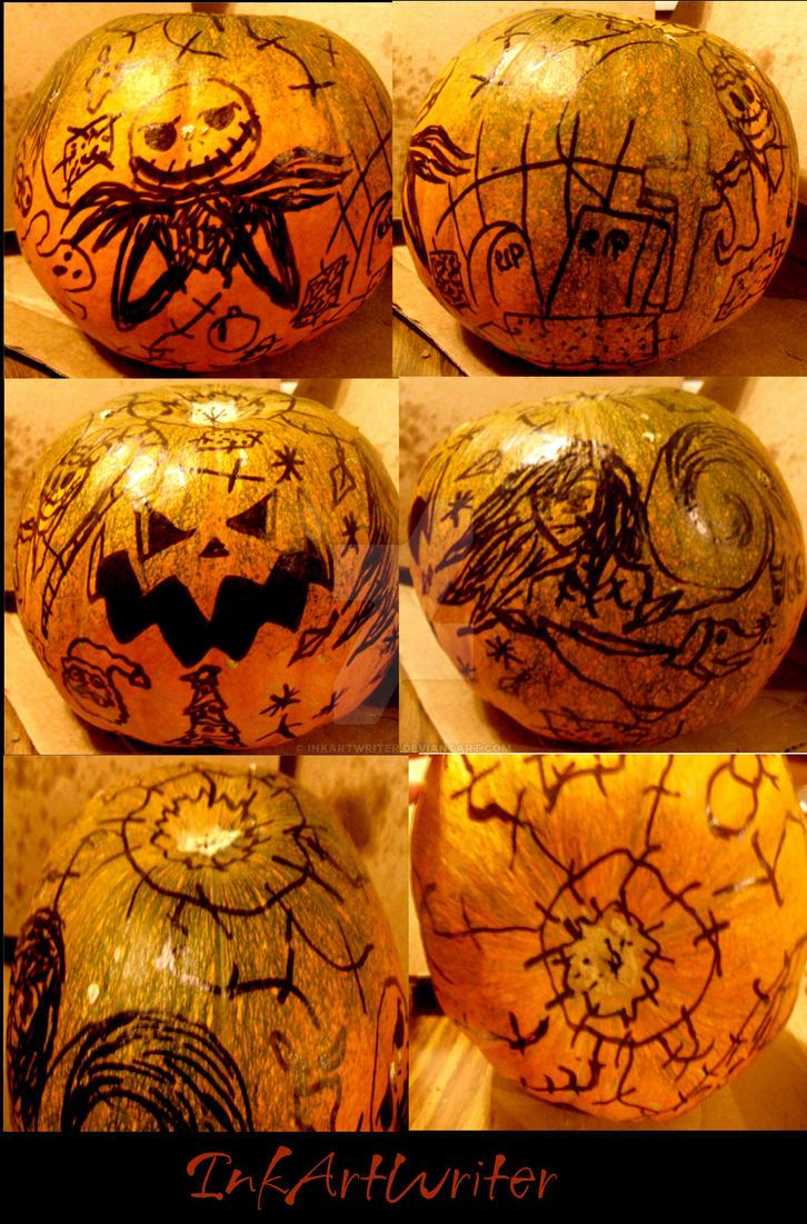 My Nightmare Before Christmas Pumpkin by InkArtWriter