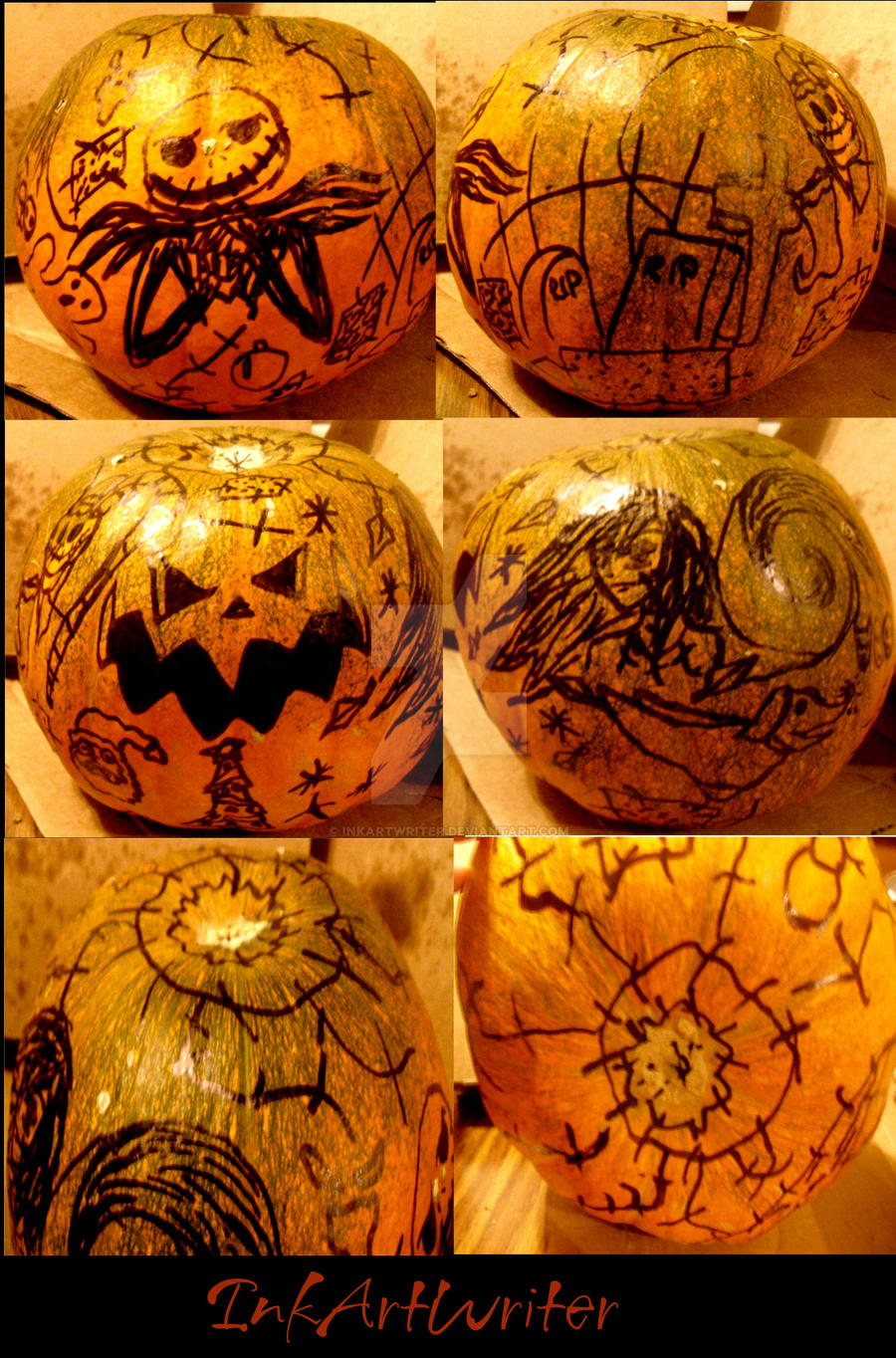 My Nightmare Before Christmas Pumpkin by InkArtWriter on DeviantArt Nightmare Before Christmas Pumpkin Patch Drawing