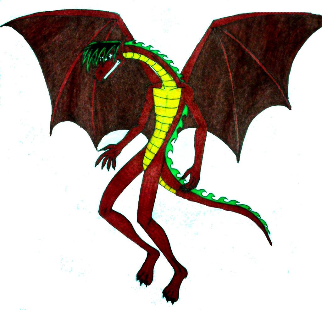американский дракон для раскраски
