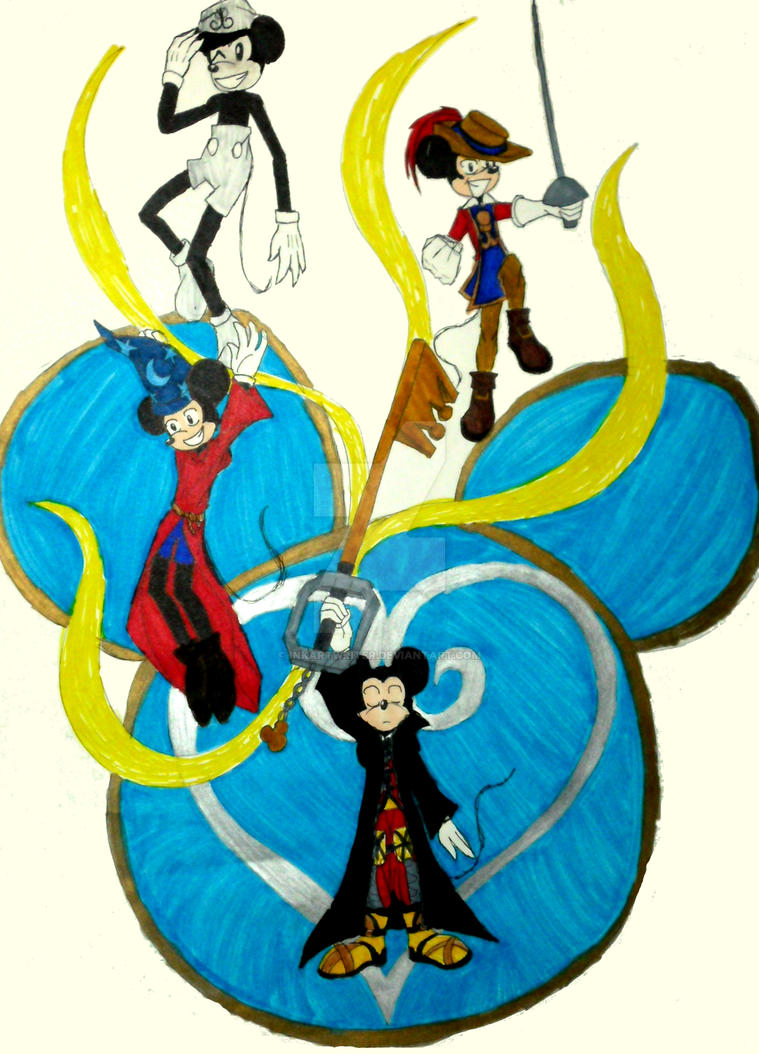 Kingdom Hearts King Mickey by InkArtWriter