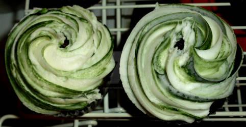 Swirled Colored Cupcakes 2