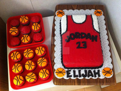 Birthday Basketball Jordan CakeCupcakes by InkArtWriter on DeviantArt