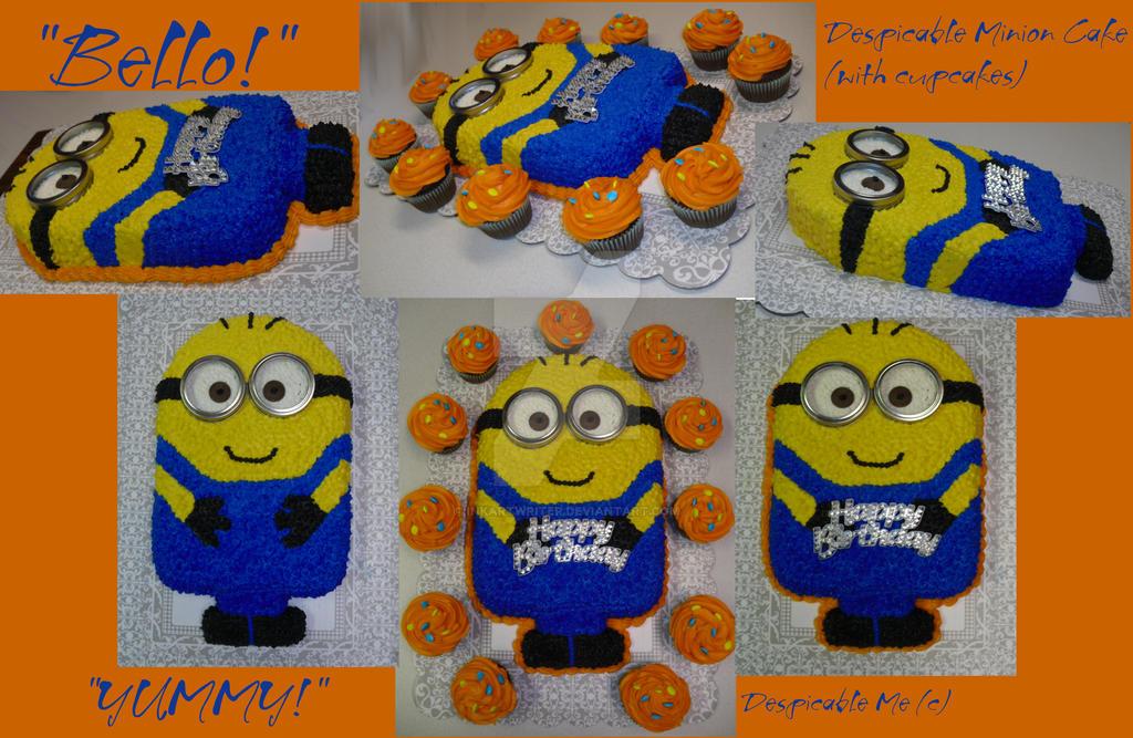 My First Despicable Minion Birthday Cake By Inkartwriter On Deviantart