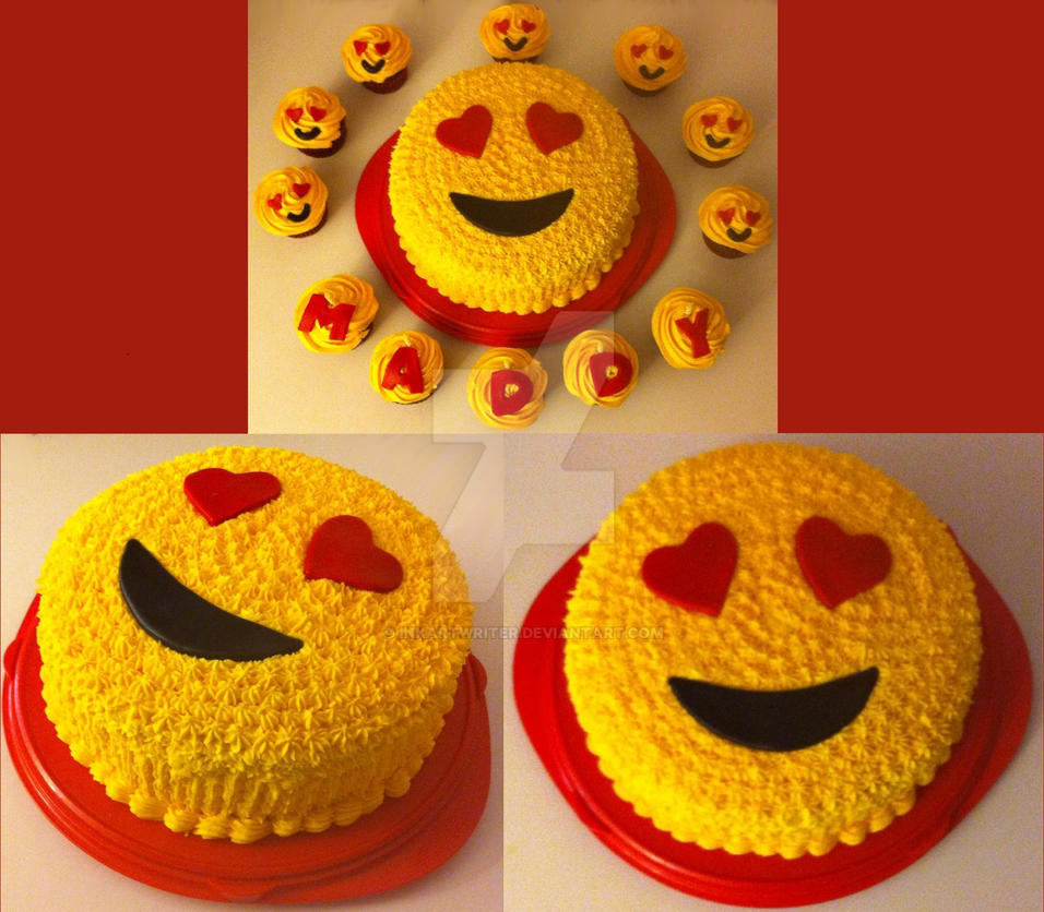 Cake Emoji Art : Emoji In Love Cake by InkArtWriter on DeviantArt