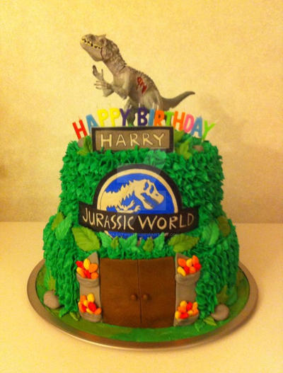Jurassic World Cake By Inkartwriter On Deviantart