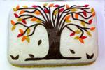 Family Fall Tree Cake by InkArtWriter