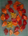 Homemade Marshmallow Fondant Fall Leaves by InkArtWriter