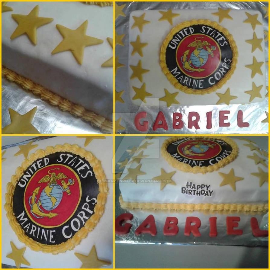 Us Marine Corps Birthday Cake By Inkartwriter On Deviantart
