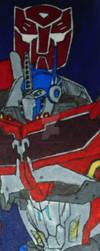 Beast Hunters Optimus Prime Bookmark by InkArtWriter