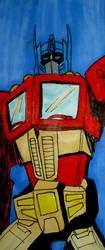 G1 Optimus Prime Bookmark by InkArtWriter