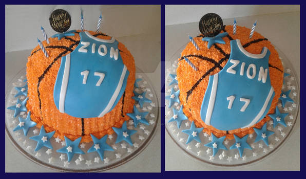 Another Basketball-themed Birthday Cake