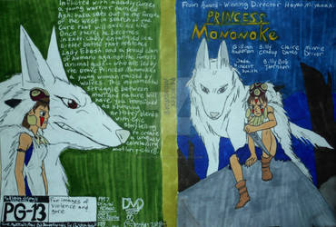 My DVD Cover: Princess Mononoke by InkArtWriter
