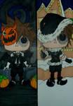 Pop Figure Bookmark - Halloween Christmas Sora by InkArtWriter