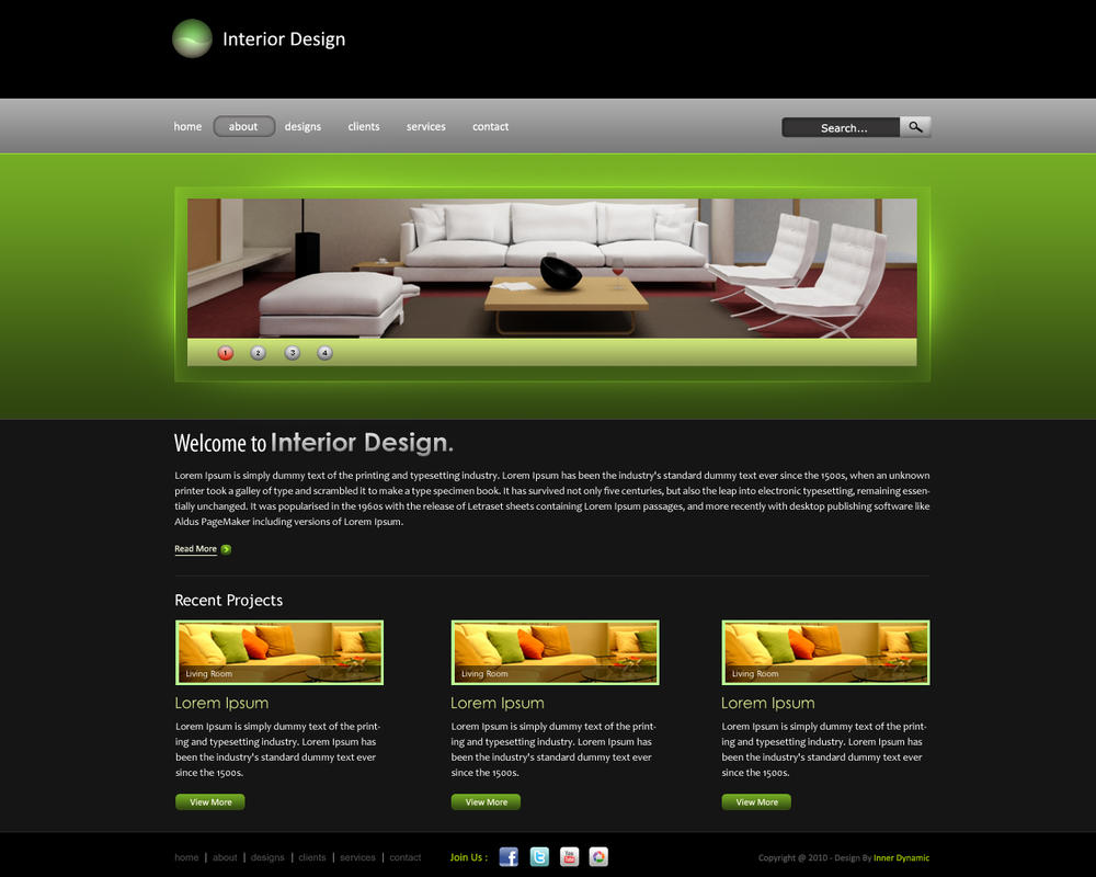 Interior Design Website By Innerdynamic On Deviantart