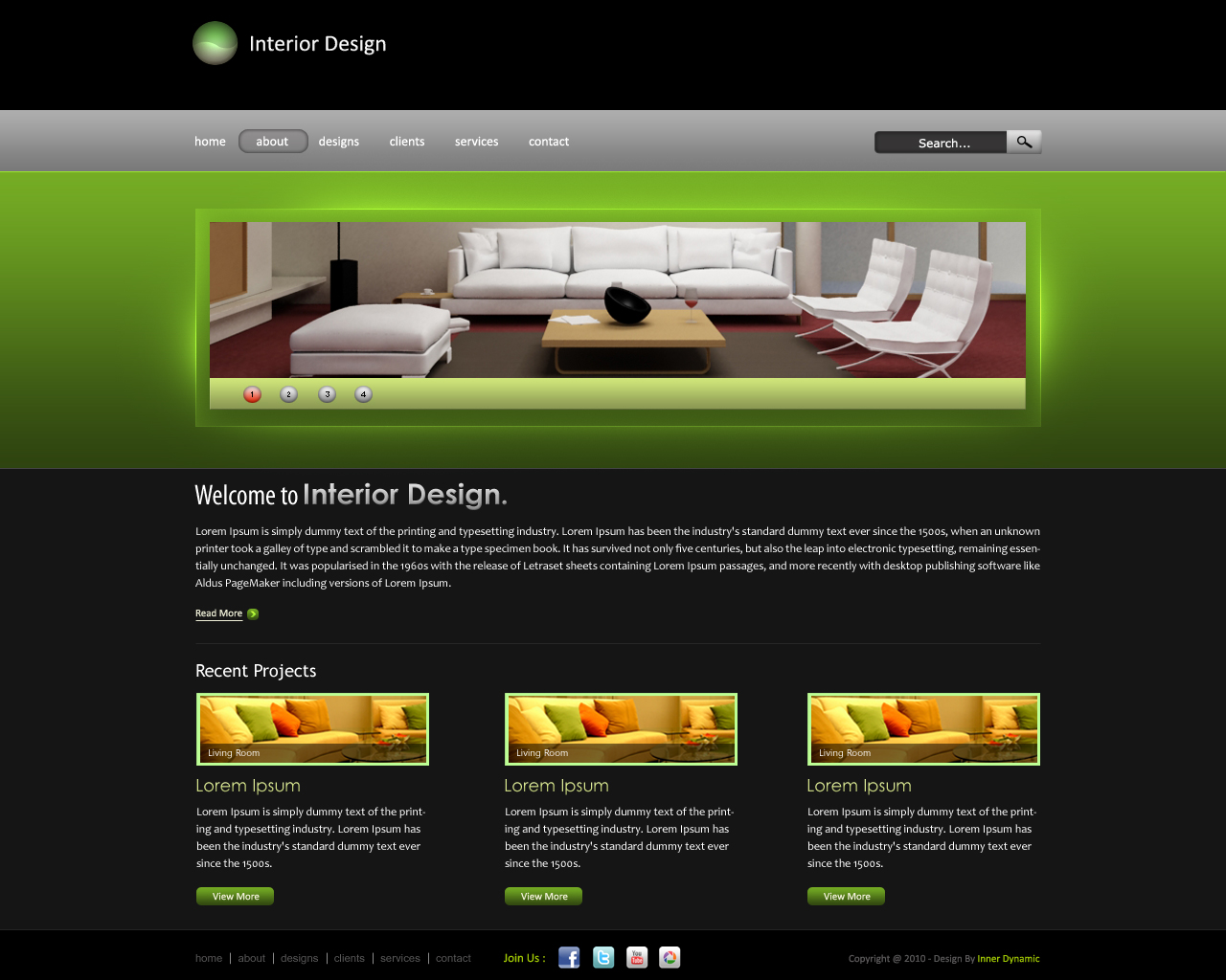 Interior design website by innerdynamic on deviantart for Interior designs websites