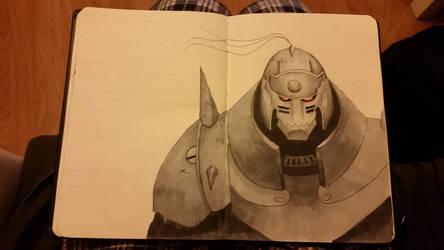 Alphonse Elric Sketch  by fattybombas