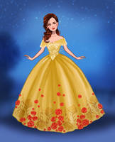 Emma Watson as Belle in Beauty and the Beast by DylanBonner