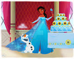 Tiana in Elsa's World