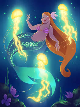 Mermaid with Jellyfish