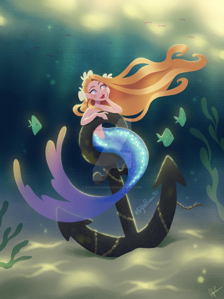 Mermaid On Anchor By DylanBonner On DeviantArt