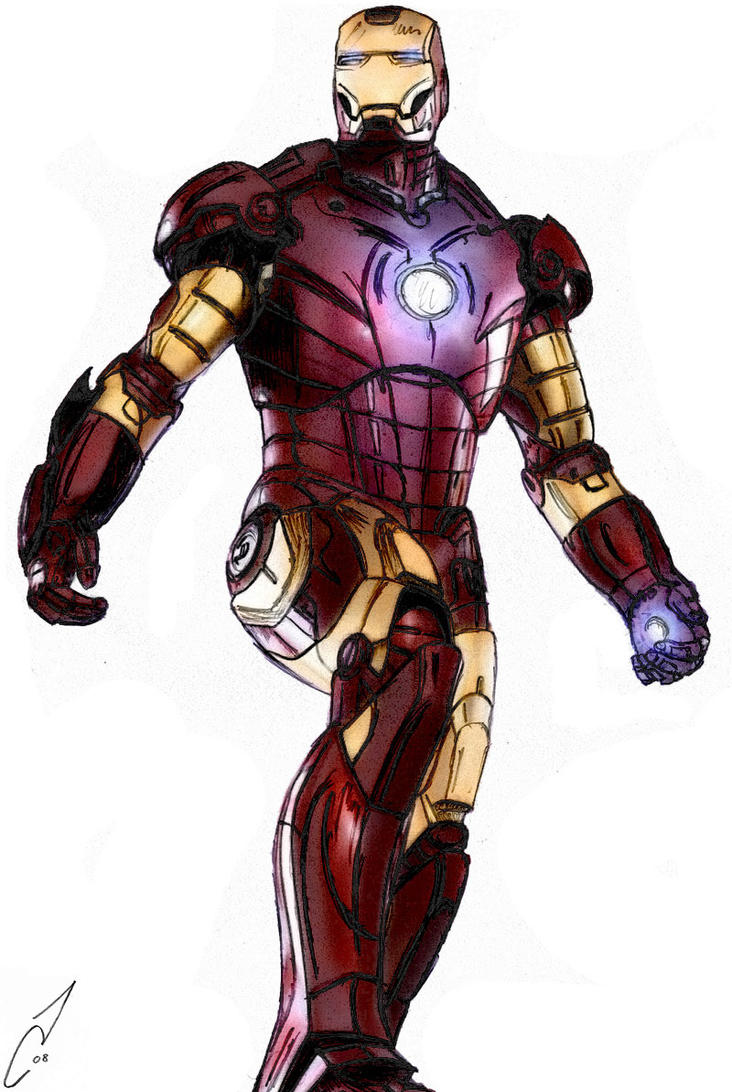 ironman colour by calvey - Iron Man Pictures To Colour