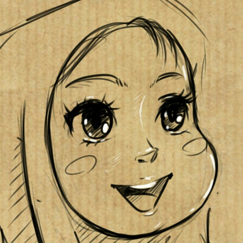 manga hijab girl doodle by saeideh69