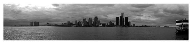 Skyline Detroit by crayonstochaos