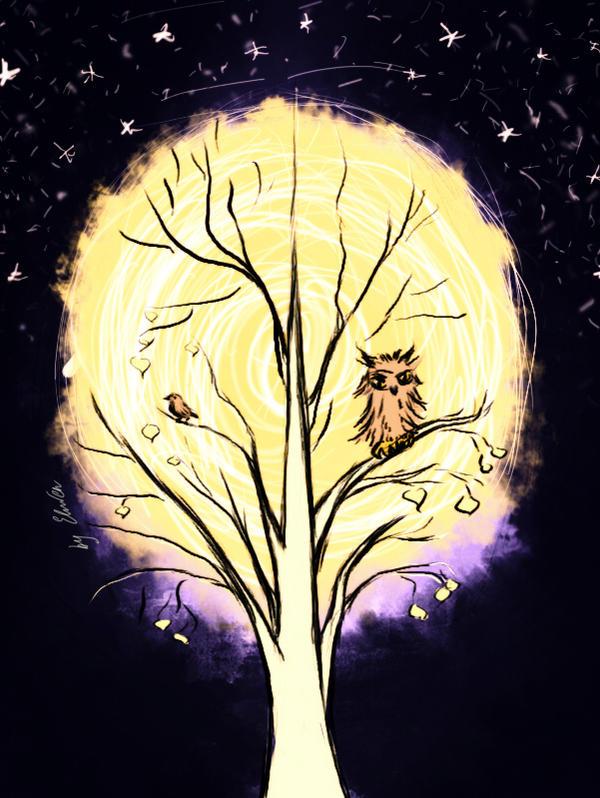 Winter tree-v.2 by ElwenNoriel