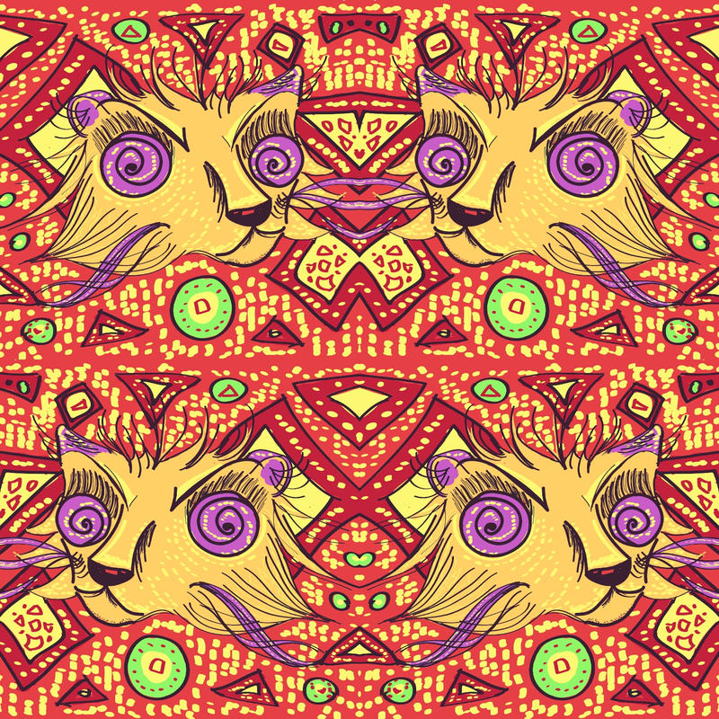 Cat pattern sketch by ElwenNoriel