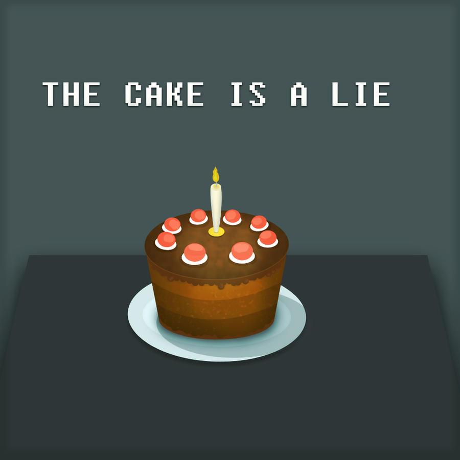 The Portal Cake is a LIE by Andrejaz on DeviantArt