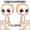 {F2U} Sitting Pretty - Pixel Pagedoll Base by LovelessReality