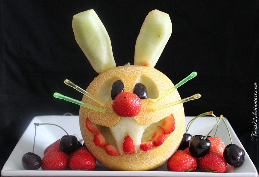 Fruit carving by twins on deviantart