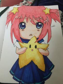 Star Chibi Girl by BlueFluttershy