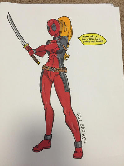 Lady deadpool by RetroCupcak3