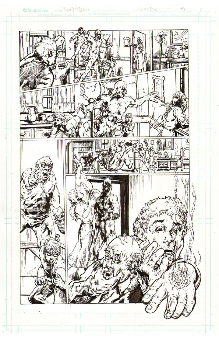 Horror pg7 inks by billyjimbo