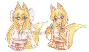[Request]: Momo and Sanyu by KnightLycoris