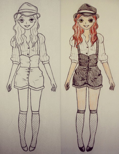 outfit drawing by aiphan