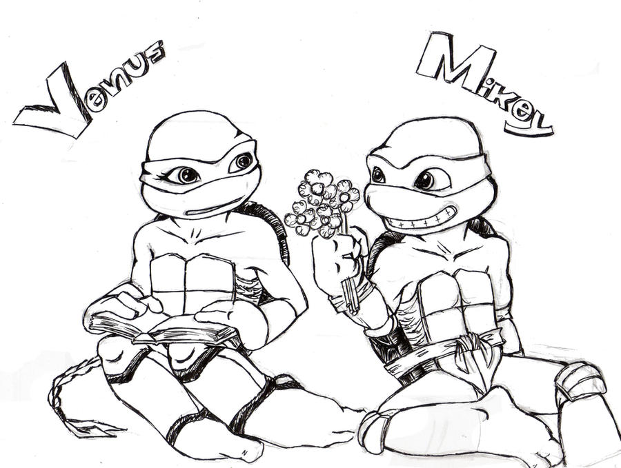 tmnt mikey and venus by propimol on deviantart