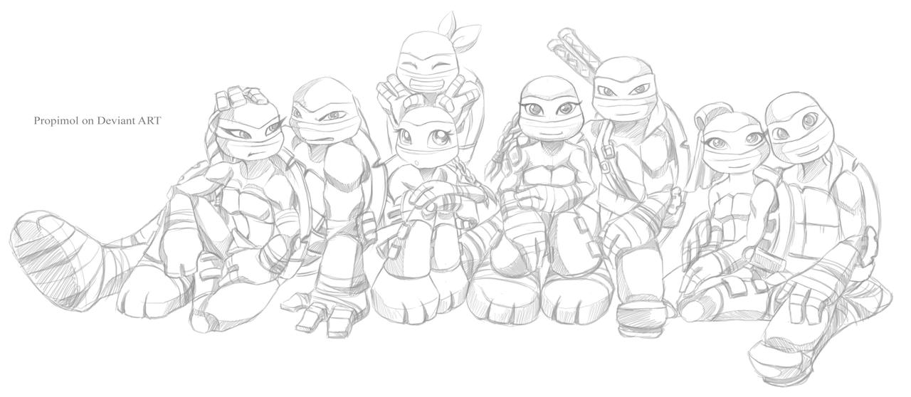 Tmnt Coloring Pages April : Tmnt by propimol on deviantart