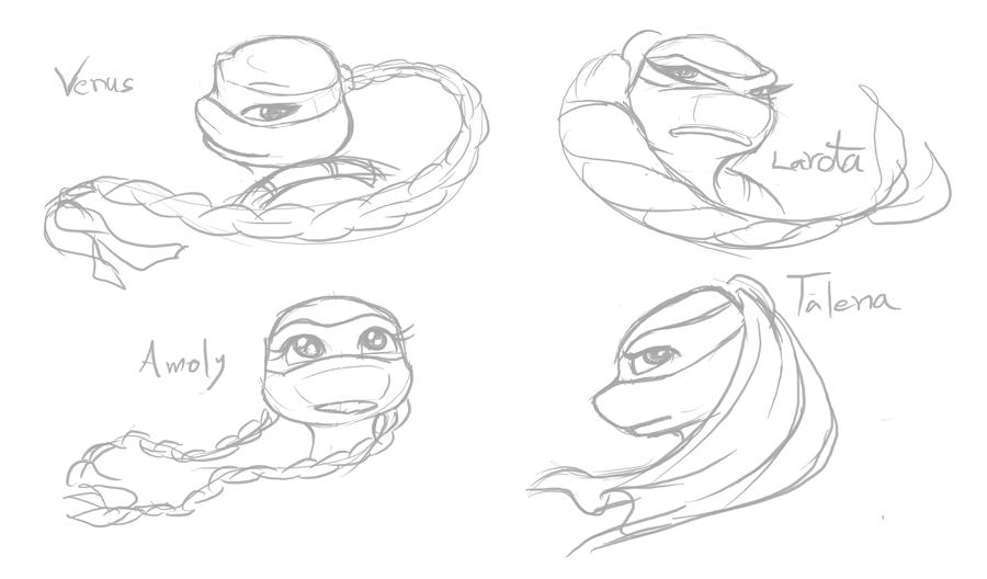 girl ninja turtles coloring pages - photo#18
