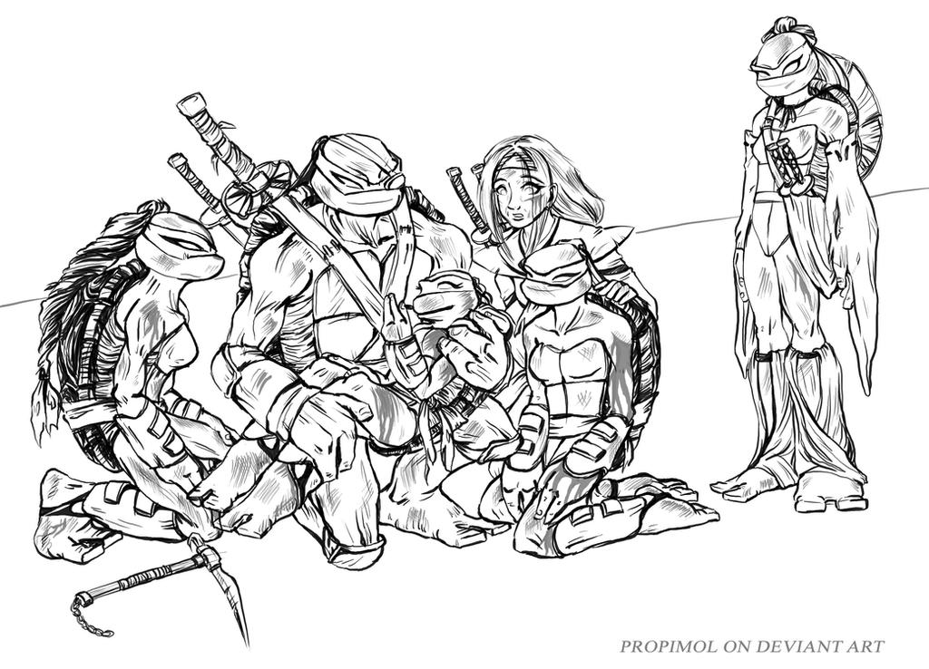 Tmnt 2003 coloring pages ~ TMNT GIRLS : Father came help by propimol on DeviantArt