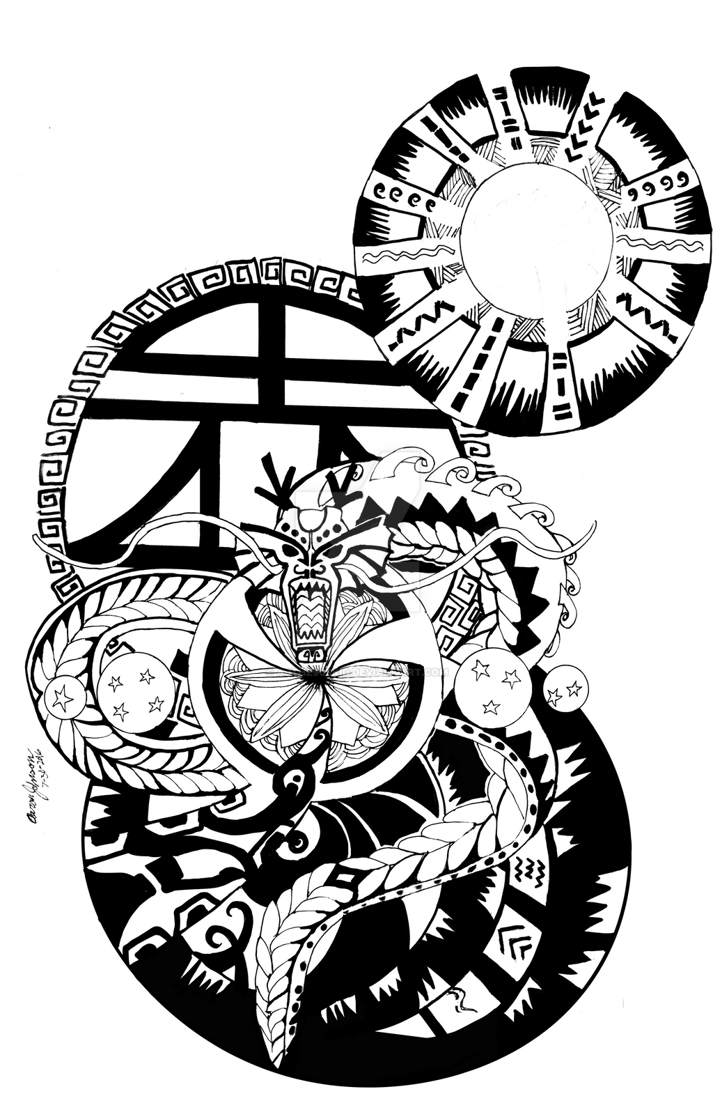 COMMISSION: Saizuko1's Dragon by AJthe90skid