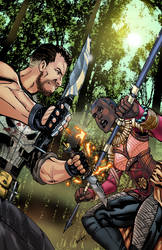 AJ Commission Tier - Okoye VS Punisher! (w/ video)