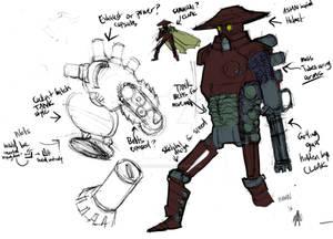 MECHA Samuraigunn design