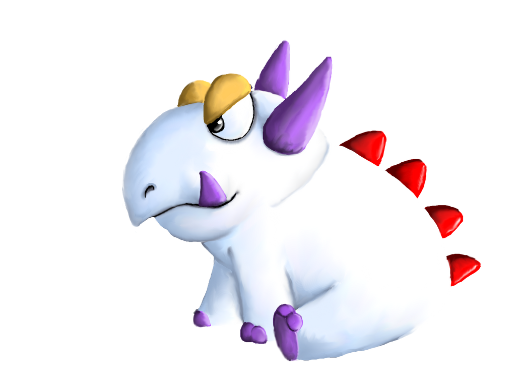 Albino Dino by pie-lord