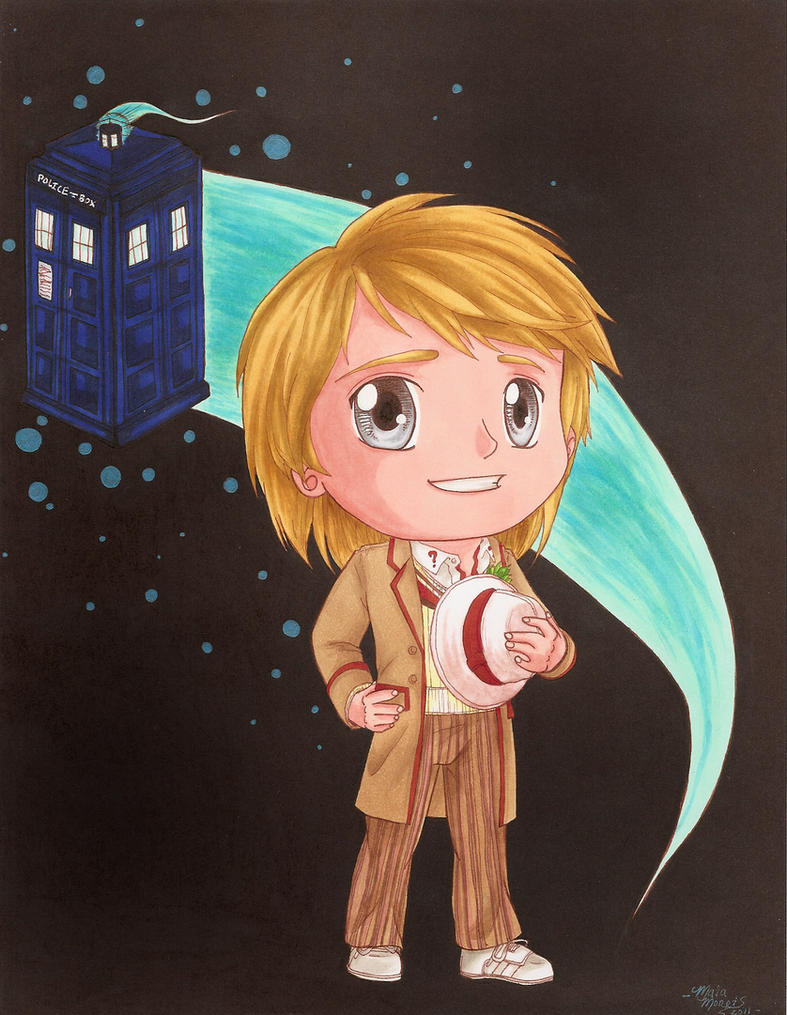 The Fifth Doctor (Peter Davison) and the Tardis! by HavocGirl