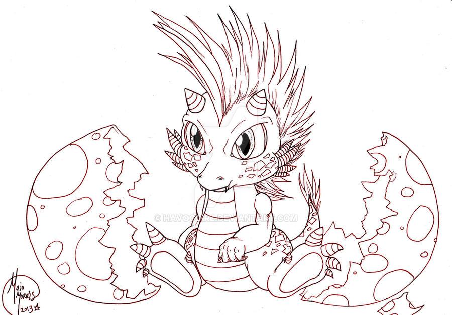 cute baby dragon hatching work in progress by havocgirl on deviantart