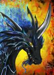 Blue Fire Dragon Manga Style!