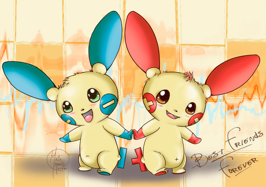 Plusle And Minun Best Friends Forever By HavocGirl